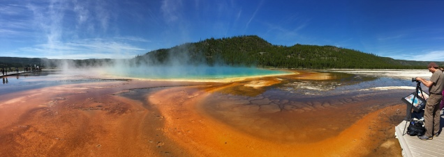 The amazing colors of Grand Prismatic Spring.