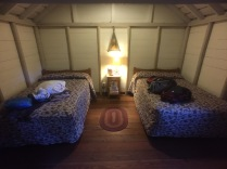 Inside one of the cabins at Roosevelt Lodge.